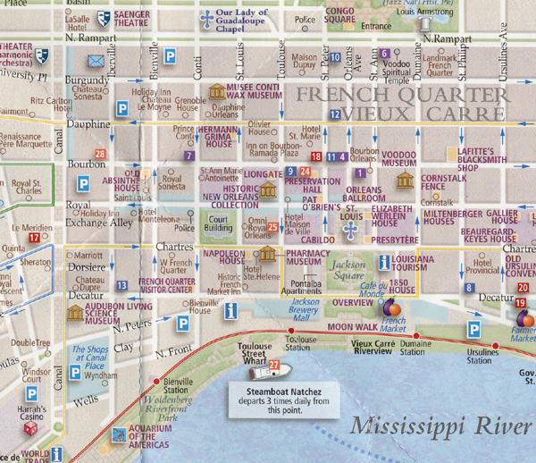 NOLA American Travels 2015 – New Orleans French Quarter Tourist Map